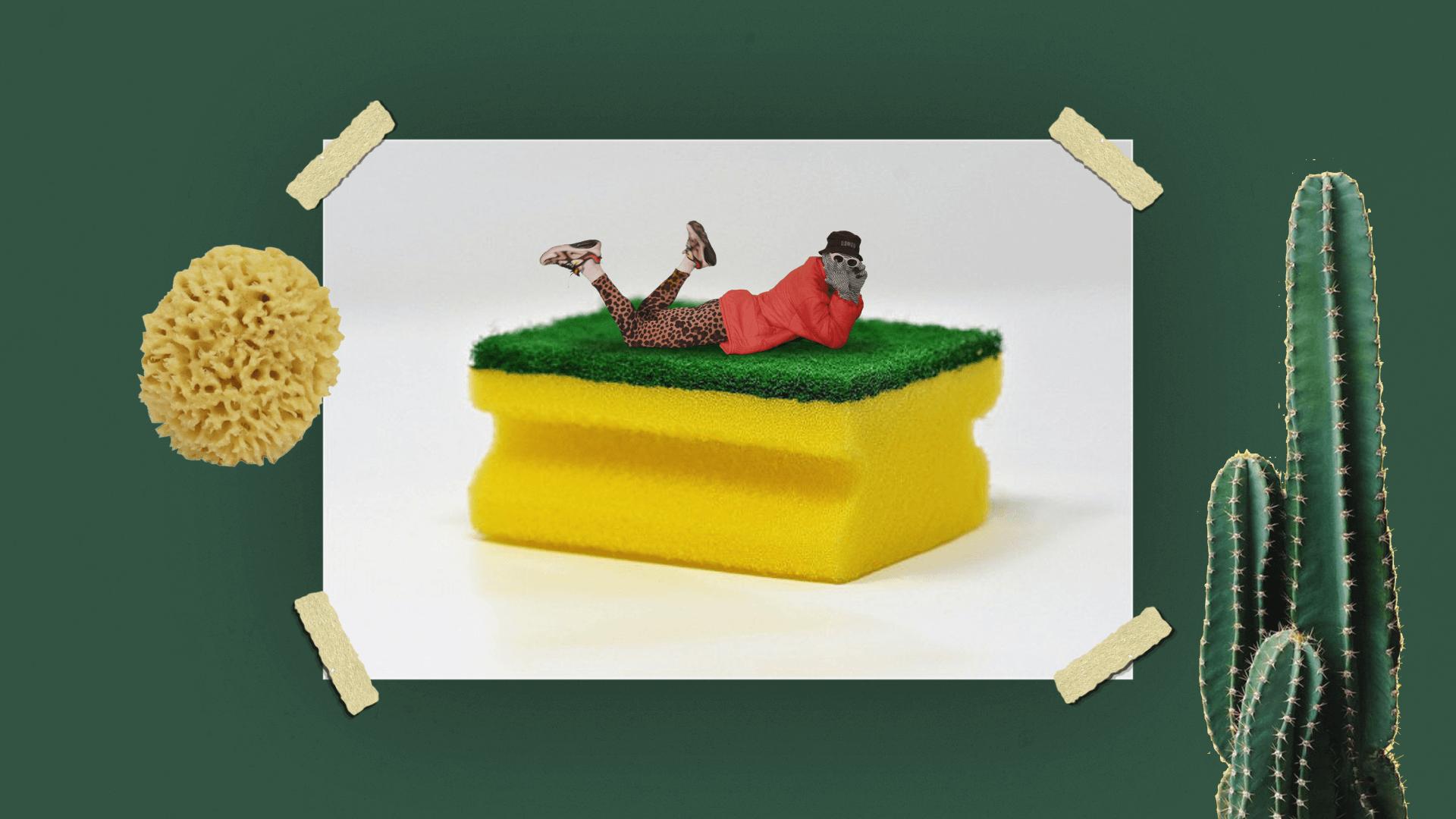 Zelená hubka