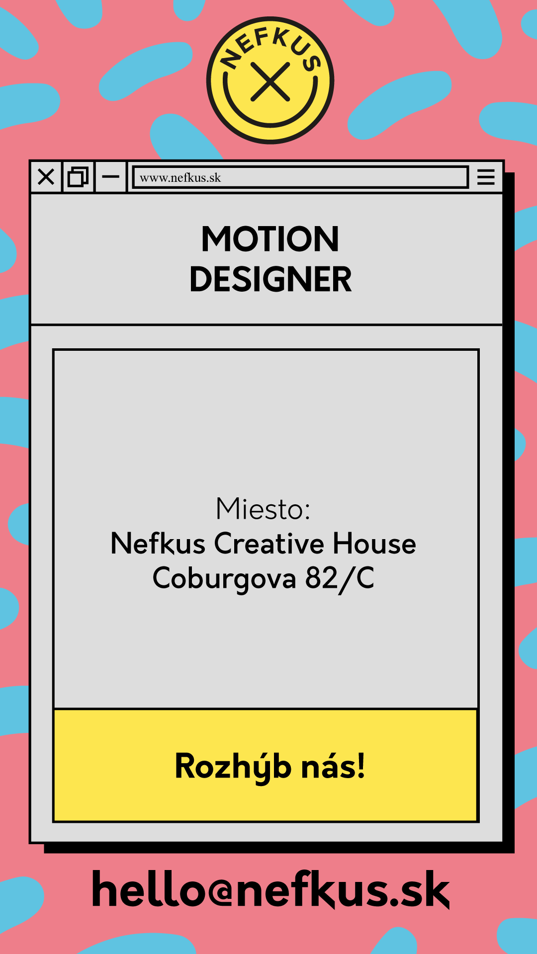 Pracovná ponuka na motion dizajnéra