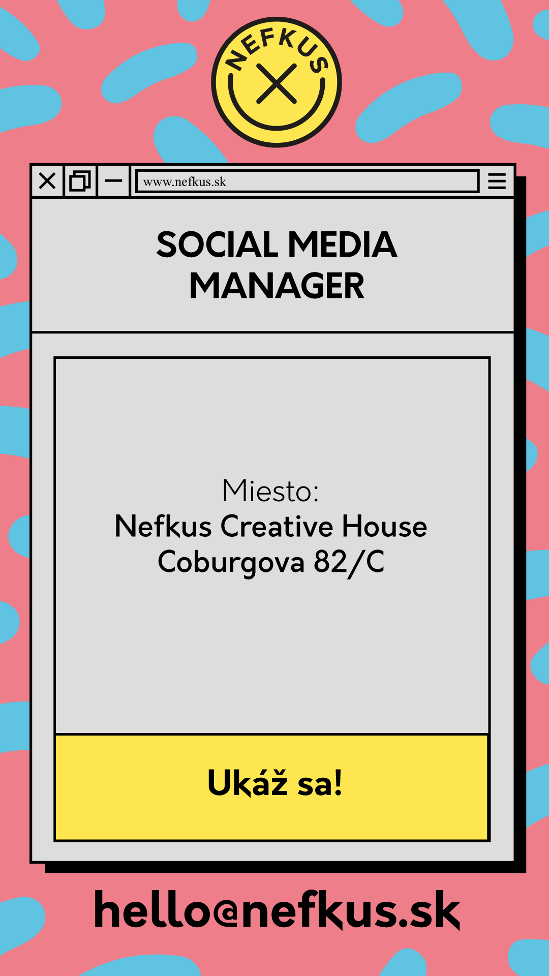 Pracovná ponuka na social media manažéra