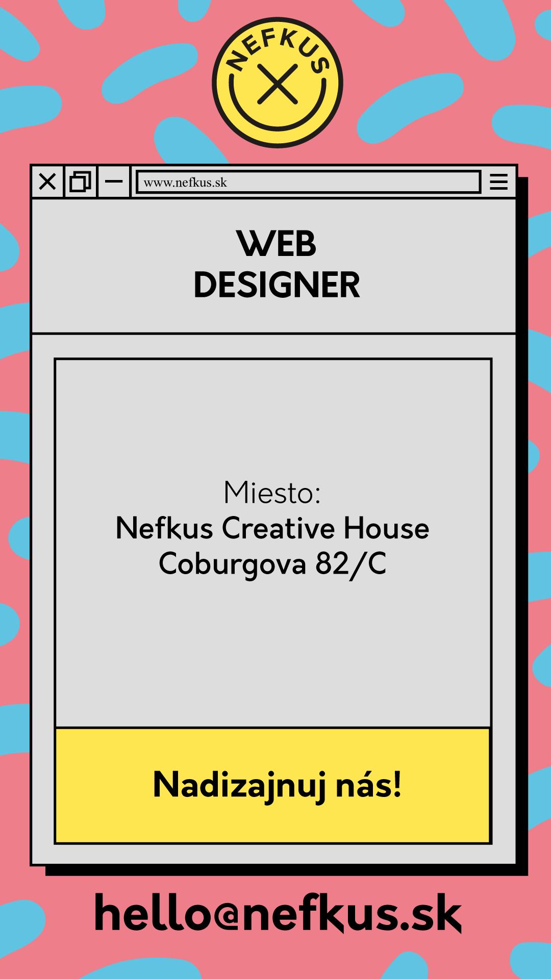 Pracovná ponuka na web dizajnéra