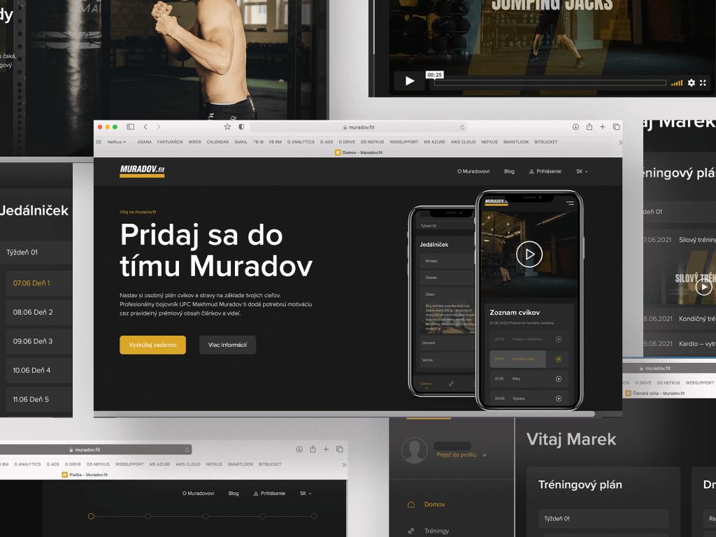 web portal na mieru muradov.fit